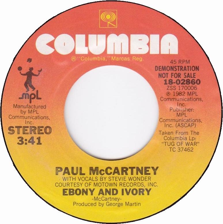 paul mccartney ebony and ivory № 271452
