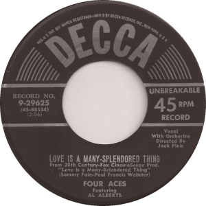 the-four-aces-featuring-al-alberts-love-is-a-many-splendored-thing-decca