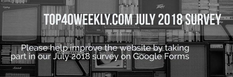 Weekly Top 40 July 2018 Website Survey